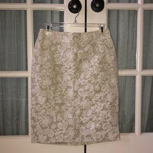 Banana Republic Cream Lace Skirt